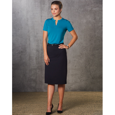 Picture of Women PolyViscose Stretch Twill Flexi Waist A-Line Utility Lined Skirt