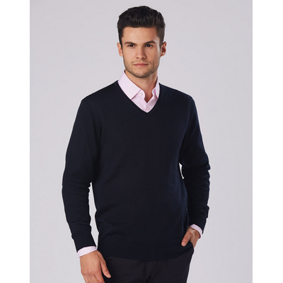 Picture of Mens V-Neck Long Sleeves Jumper