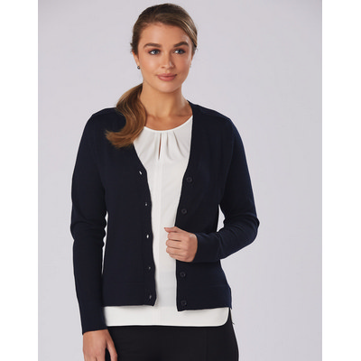 Picture of Women V-Neck Long Sleeve Cardigan