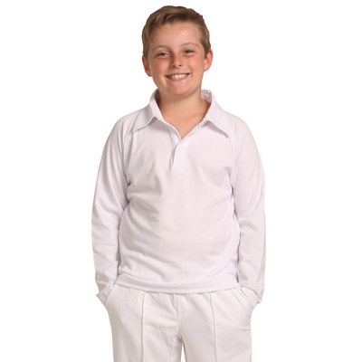 Picture of Kids LSleeve Cricket Polo