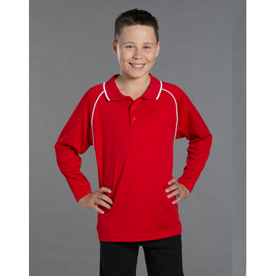 Picture of Kids Champion Plus LSleeve Polo
