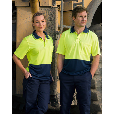 Picture of High Visibility Cooldry Short Sleeve Polo