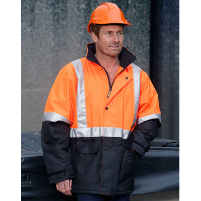 Picture of Hi-Vis Two Tone Rain Proof Jacket With Quilt Lining