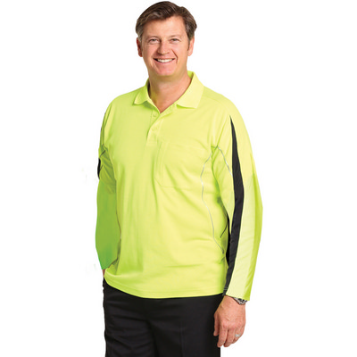 Picture of Hi-Vis Legend Long Sleeve Polo MenS