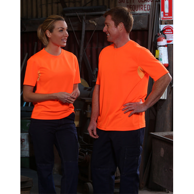 Picture of Hi-Vis Mini Waffle Safety Tee-Unisex