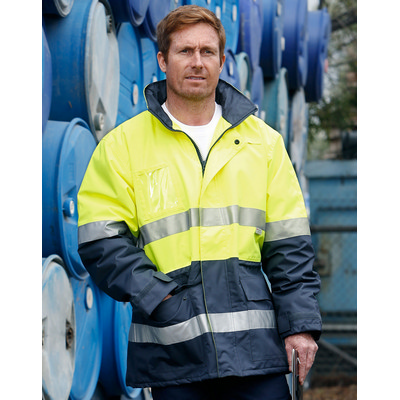 Picture of Hi-Vis Long Line Jacket Polar With Fleece Lining
