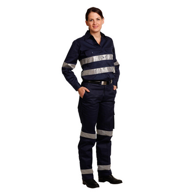 Picture of Ladies Heavy Cotton Drill Cargo Pants With Biomotion 3M Tapes