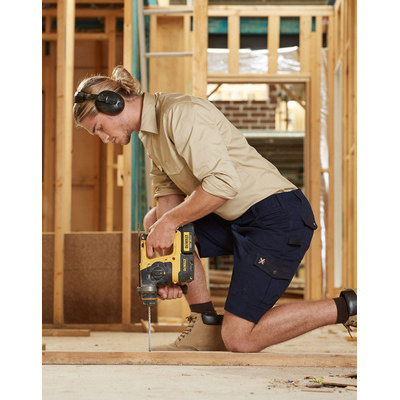 Picture of Mens Stretch Cargo Work Shorts With Design Panel Treatments