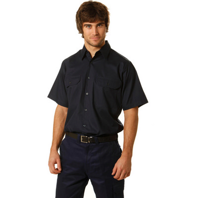 Picture of Cotton Drill Short Sleeve Work Shirt