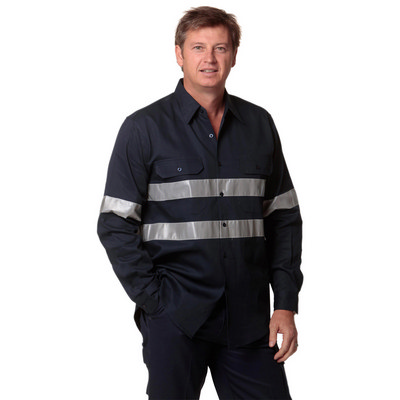 Picture of Cotton Drill Long Sleeve Work Shirt With 3M Tapes