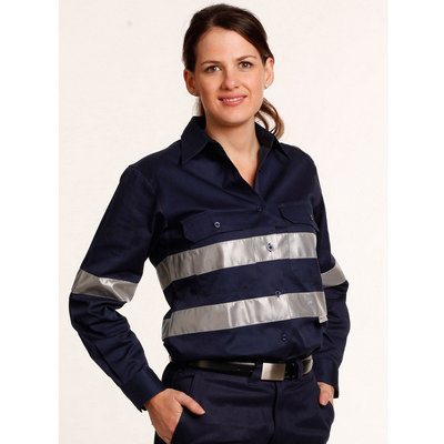 Picture of Women Cotton Drill Work Shirt With 3M Tapes