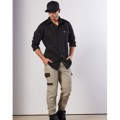 Picture of Mens Stretch Work Shirt With 2 Front Flap Pockets