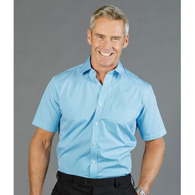 Picture of MENS GINGHAM SHORT SLEEVE SHIRT