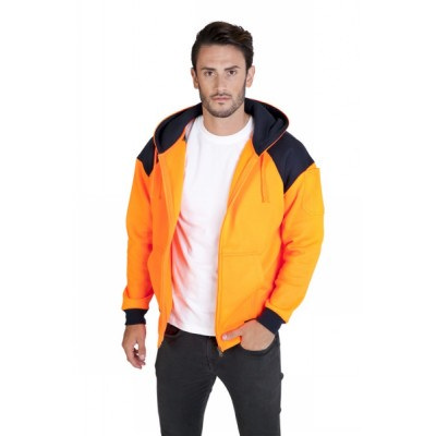 Picture of MENS CONTRAST HI VIS FLEECE WITH ZIP