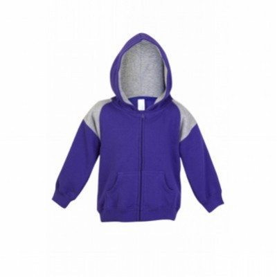 Picture of KIDS SHOULDERS CONTRAST PANEL ZIP HOODIES