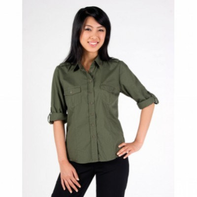 Picture of Ladies military long sleeve shirts