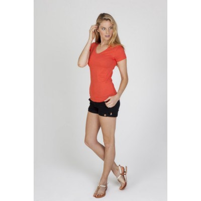 Picture of Ladies V-neck Marl Tee