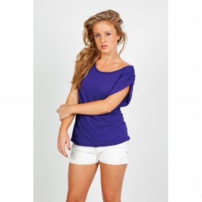 Picture of LADIES WIDE AND DISTRESSED RIB NECK T SH