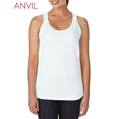 Picture of Anvil Womens Tri-Blend Racerback Tank Wh