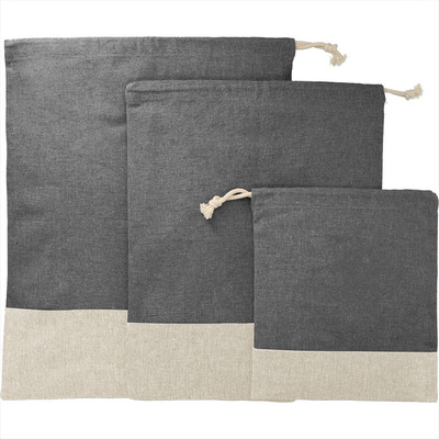 Picture of Split Recycled 3pc Travel Pouch Set