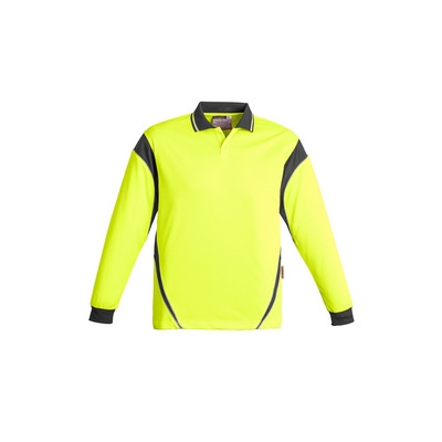 Picture of Mens Hi Vis Aztec Polo - Long Sleeve