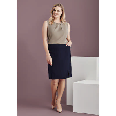 Picture of Womens Front Pleat Detail Straight Skirt