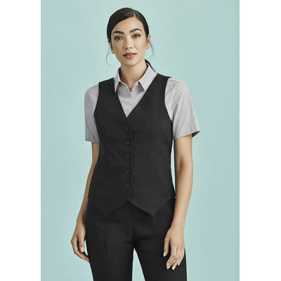 Picture of Womens Peaked Vest with Knitted Back