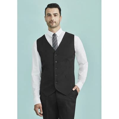 Picture of Mens Peaked Vest with Knitted Back