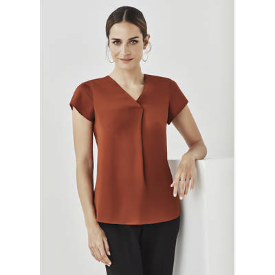 Picture of Womens Kayla V-neck Pleat Blouse