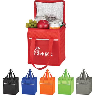 Picture of WAVE DESIGN NON-WOVEN COOLER LUNCH BAG