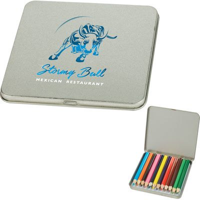 Picture of 12 Piece Colored Pencil Tin