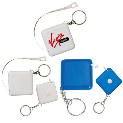 Picture of Square Retractable Tape Measure Key Ring