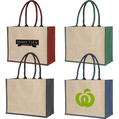 Picture of Laminated Jute Supermarket Bag With Colo