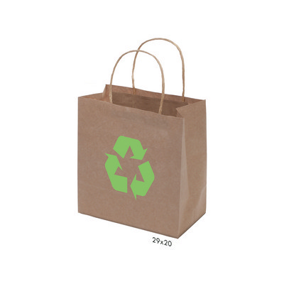 Picture of Kraft Paper Bag Brown Small Includes Twi