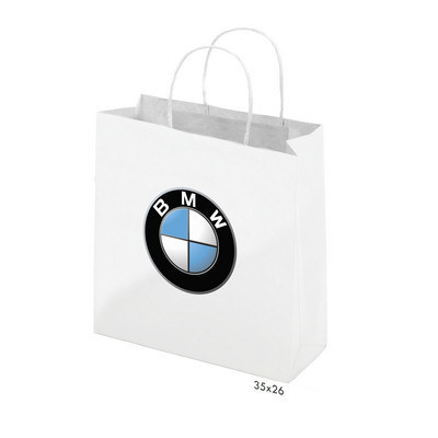 Picture of Gloss Laminated Bag White Portrait With