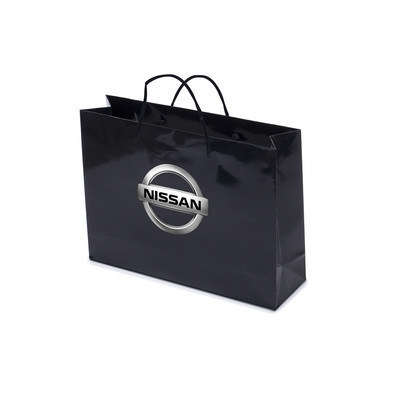 Picture of Gloss Laminated Bag Black Landscape With