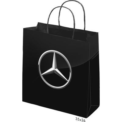 Picture of Gloss Laminated Bag Black Portrait With