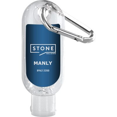 Picture of Hand Sanitiser With Carabiner 30ml Made
