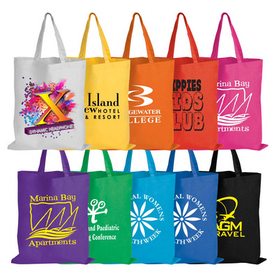 Picture of Coloured Cotton Short Handle Tote Bag