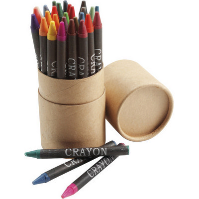Picture of Cardboard tube with crayons