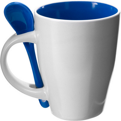 Picture of Ceramic mug with spoon