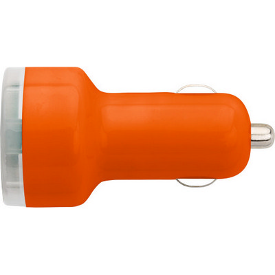 Picture of Plastic car power adapter with two USB p