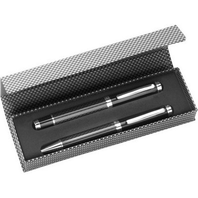 Picture of Carbon fibre and brass writing set