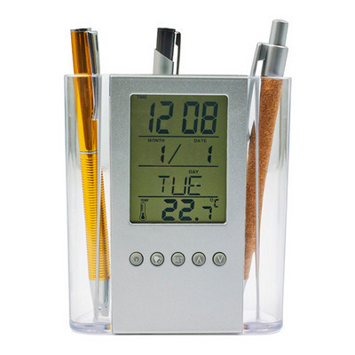 Picture of ABS pen holder with clock