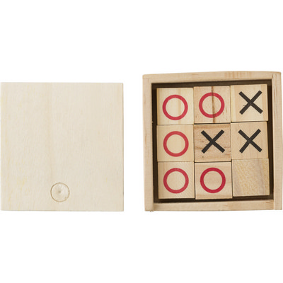 Picture of Wooden Tic Tac Toe game