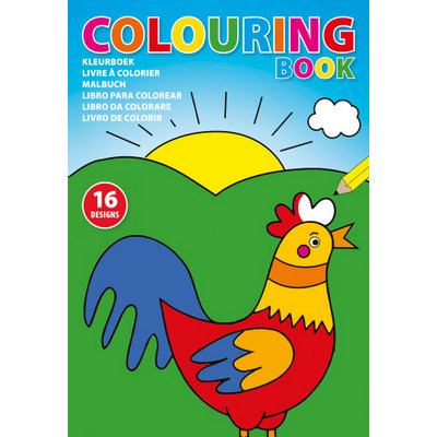 Picture of Cardboard colouring book