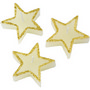 Three star-shaped candles