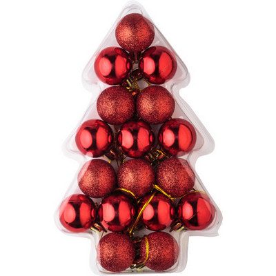 Picture of Set of 17 small plastic Christmas balls