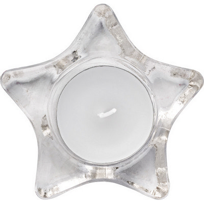 Picture of Star-shaped glass candle holder, includi