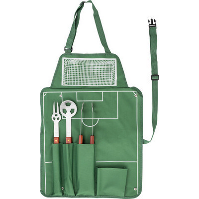 Picture of Nylon (600D) apron with barbecue set